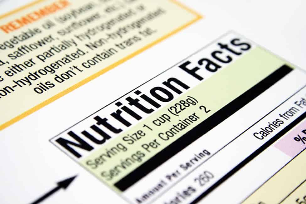 nutritional over labelling