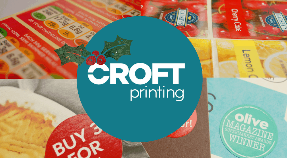 Croft Printing's printed labels