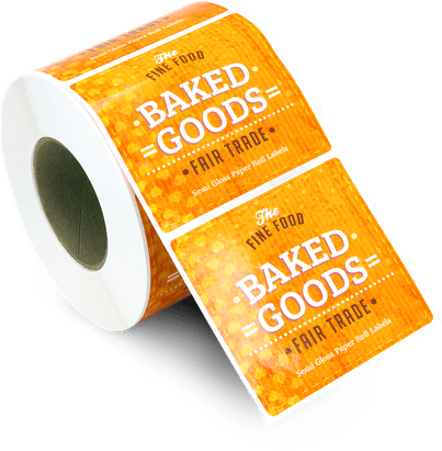 Baked Goods Fair Trade sticky labels